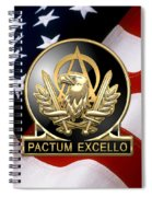 Acquisition Corps - A A C Regimental Insignia U. S. Flag  Spiral Notebook