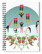 Acrobatic Parcel Delivery Spiral Notebook