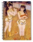 Acrobats At The Cirque Fernando Francisca And Angelina Wartenberg 1879 Spiral Notebook