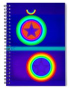 Acrobats Blue Spiral Notebook