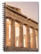 Acropolis Parthenon At Sunset Spiral Notebook