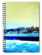 Across The Dam To Boathouse Row. Spiral Notebook
