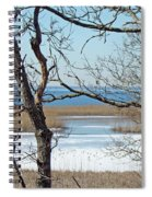 Across The Marsh To Woodneck Beach - Cape Cod Spiral Notebook