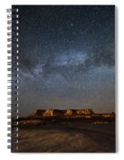 Across The Universe - Milky Way Galaxy Over Mesa In Arizona Spiral Notebook