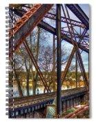 Across The Water 6th Street Rr Bridge Augusta Georgia Art Spiral Notebook