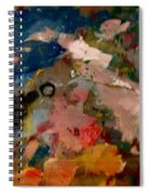 Acryl Color Abstract Spiral Notebook