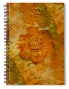Acryl Painting Goldflowers Spiral Notebook
