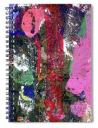 Acrylic Paint Spiral Notebook