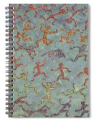 Acrylic Stickmen Character Painting Spiral Notebook