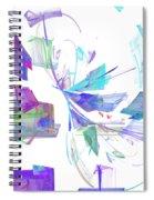 Action In Pastel Spiral Notebook