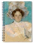 Adaline Havemeyer In A White Hat Spiral Notebook