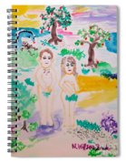 Adam And Eve Spiral Notebook
