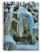 Adam Jewell At Maligne Canyon Spiral Notebook