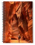 Adam Jewell In Buckskin Slot Canyon Spiral Notebook