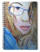 Addie In Blue Spiral Notebook