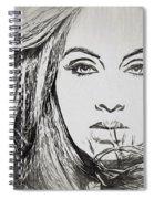 Adele Charcoal Sketch Spiral Notebook