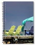 Adirondack Chairs At Coyaba Mahoe Bay Jamaica. Spiral Notebook