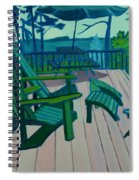 Adirondack Chairs Maine Spiral Notebook