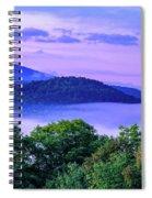Adirondack Mountains In Fog Spiral Notebook