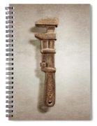 Adjustable Wrench Left Face Spiral Notebook