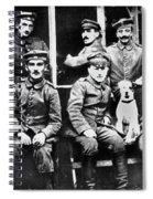 Adolf Hitler With  Fellow Soldiers From The List Regiment  Number Two Circa 1916 Spiral Notebook