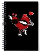 Adorable Cool Dabbing Heart Spiral Notebook
