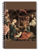 Adoration Of The Child With Saints 1460 65 Fra Filippo Lippi Spiral Notebook