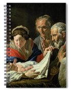 Adoration Of The Infant Jesus Spiral Notebook
