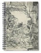 Adoration Of The Shepherds, With Lamp Spiral Notebook