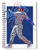 Adrian Gonzalez Los Angeles Dodgers Oil Art Spiral Notebook