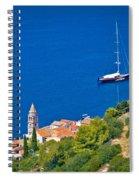 Adriatic Town Of Vis Sailing Destination Waterfront Spiral Notebook