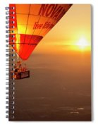 Adrift In The Mist At Sunrise Spiral Notebook