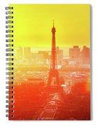 Sunset In Paris  Spiral Notebook