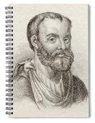 Aelius Galenus Or Claudius Galenus Spiral Notebook