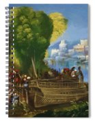 Aeneas And Achates On The Libyan Coast 1520 Spiral Notebook