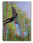 Aerial Artist - Use Red-cyan 3d Glasses Spiral Notebook