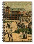Aerial Birds Eye View Of Long Beach Pier And Beachfront California Circa 1895 Spiral Notebook