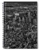 Aerial New York City Sunset Bw Bw Spiral Notebook