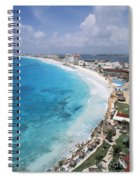 Aerial Of Cancun Spiral Notebook
