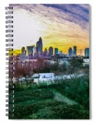Aerial Of Charlotte North Carolina Skyline Spiral Notebook