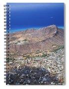 Aerial Of Diamond Head Spiral Notebook