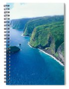 Aerial Of North Shore Spiral Notebook