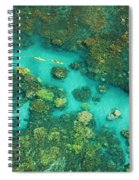 Aerial Of Two Kayakers Spiral Notebook