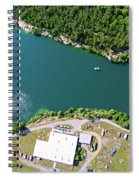 Aerial Over Blue Stone Quarry In North Carolina Spiral Notebook