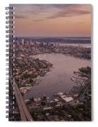 Aerial Seattle View Along Interstate 5 Spiral Notebook