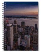 Aerial Seattle Westward View Spiral Notebook