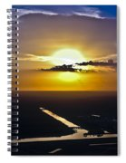 Aerial Sunset Over Canal Spiral Notebook