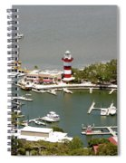 Aerial View Harbour Town Lighthouse In Hilton Head Island Spiral Notebook