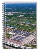 Aerial View Of A Racetrack Spiral Notebook