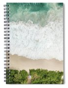 Aerial View Of Anse Intendance - Mahe - Seychelles Spiral Notebook